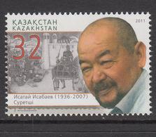 2011 Kazakhstan Issatai Isabayev Painter Set Of 1 MNH - Kazakhstan