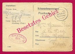Deux Documents Relatifs à Un Prisonnier De Guerre De Doye Dans Le Jura - Stalag IV E à Altenburg - 1939-45
