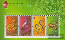 Hong Kong Block85 (complete Issue) Unmounted Mint / Never Hinged 2001 Chinese Year - 1997-... Chinese Admnistrative Region