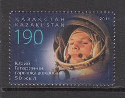 2011 Kazakhstan 50th Anniv 1st Man In Space Set Of 1 MNH - Kazakhstan