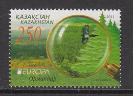 2011 Kazakhstan Europa Pine Forests Set Of 1 MNH - Kazakhstan
