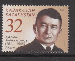 2011 Kazakhstan Kasym Amanzholov Poet Set Of 1 MNH - Kazakhstan