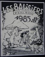 ETIQUETTE CYCLISME LES BALISIERS DAME NOIRE 1985 PILLON ET SCHLEPFER-PENEY - Cycling