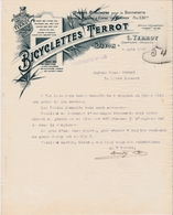 DIJON -21- FACTURE- LETTRE- Bicyclettes Terrot - C.Terrot àDijon -Ref:A7577 - 1800 – 1899