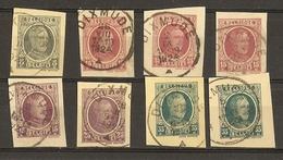Belgique 1923/27 - Petit Lot De 8 Fragments D'entiers Postaux - Cachets Dixmude - Albert Houyoux - Entiers Postaux