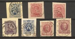 Belgique 1919/34 - Flandre Orientale - Petit Lot De 7 Fragments D'EP - Eekloo - Zulte - Ruyen - Gent - Albert - Lion - Entiers Postaux