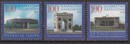 2012 Kazakhstan Educational Buildings Triumphal Arch Astana Set Of 3 MNH - Kazakhstan