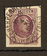 Belgique 1922 - Albert Ier - Fragment D'entier Postal - Cob 195 - Cachet Scherpenheuvel - Montaigu - Entiers Postaux