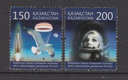 2013 Kazakhstan Space Capsule Cosmonaut Set Of 2 MNH - Kazakhstan
