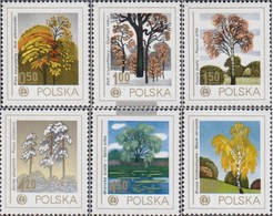 Polen 2569-2574 (completa Edizione) MNH 1978 Ambiente - Alberi - Nuevos