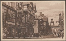 Foregate Street, Looking Towards Eastgate, Chester, Cheshire, C.1920s - Postcard - Chester