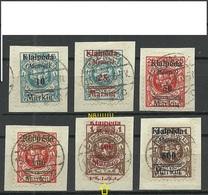 MEMEL 1923 Lithuania Litauen Klaipeda Michel 129 - 134 Incl ERROR ABART Strong OPT Swift !! * - Klaipeda