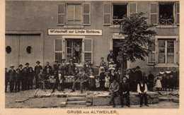 Altweiler: (gruss): Wirtschaff Zur Linde Ballèvre. - France