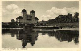 MINDEN I. W., Schleuseneinfahrt (1931) AK - Minden