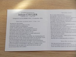 Doodsprentje Juliaan Coulier 2/8/1922 - 17/4/1995 ( Zoë Debruyne) - Religion & Esotericism