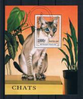 Togo 1997 Katzen Block 407 Gestempelt - Togo (1960-...)