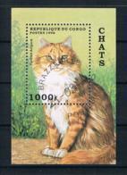 Kongo 1996 Katzen Block 129 Gestempelt - Congo - Brazzaville