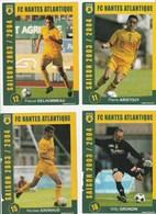CARTE DE JOUEUR DU FC. NANTES  GRONDIN-ARISTOUY-DELHOMMEAU-SAVINAUD  SAISON 2003-2004 - Football
