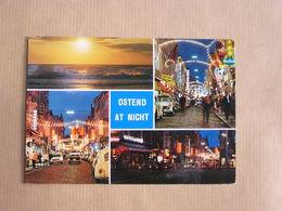 OSTEND OSTENDE OOstende At Night België Belgique Carte Postale Postcard - Oostende