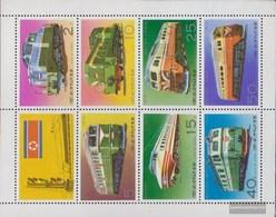 North-Korea 1555-1561 C Sheetlet (complete Issue) Unmounted Mint / Never Hinged 1976 Locomotives - Korea, North