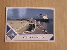 OSTEND OSTENDE OOSTENDE Un Bonjour De Ferry Boat  België Belgique Carte Postale Postcard - Oostende