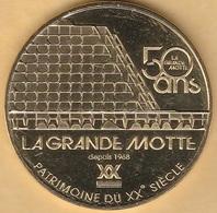 MONNAIE DE PARIS - 34 LA GRANDE MOTTE - PATRIMOINE DU XX SIECLE 2018 - Monnaie De Paris