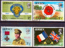JERSEY 1971 SG #61-64 Compl.set Used British Legion - Jersey
