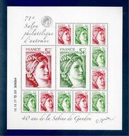 France, Bloc Feuillet, F5179, 5179/5182, 140 Ans De La Sabine De Gandon, Bloc Neuf **, TTB, 71e Salon D'Automne - Blocs & Feuillets