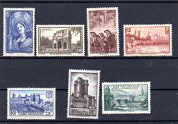 1938   Mineurs, Carcassonne, Saint-Malo, Etc, 388 / 394**, (défauts Dans Gomme), Cote 165 €, - France