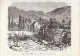 1841 - Gravure Sur Bois - Ban-de-la-Roche (Bas-Rhin) - Vue Générale - FRANCO DE PORT - Estampas & Grabados