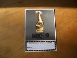 Carte Moschino - Perfume Cards