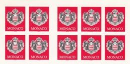2000, Monaco, 2537, Freimarke: Staatswappen. MNH **, Folienblatt - Monaco