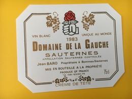 8922 - Domaine De La Gauche Sauternes Jean Baro 1983 - Politics
