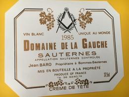 8923 - Domaine De La Gauche Sauternes Jean Baro 1985 - Politica (vecchia E Nuova)
