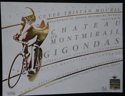 ETIQUETTE CYCLISME CUVEE TRISTAN MOURIC RECORDMAN DU MONDE HEURE MEXICO MONTMIRAIL GIGONDAS - Cycling