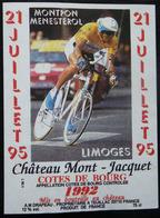 ETIQUETTE CYCLISME MONTPON-MENESTEROL LIMOGES 1995 COTES DE BOURG TOUR DE FRANCE - Cycling
