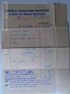 J224.14 Suisse -Railway - Wagon Restaurant -Schweizer Speisewagen - Invoice 1942 - Suisse
