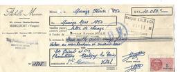 Lettre De Change Traite 1950 / 88 MIRECOURT / Achille MUNIER / Confiseur - France