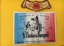 8930 -  Bicentenaire De La Révolution  Saint-Nicolas De Bourgeuil 1989 Gérard David - Bicentenary Of The French Revolution