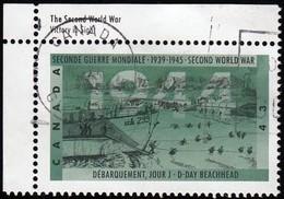CANADA - Scott #1537 D-Day Beachhead, World War II / Used Stamp - Seconda Guerra Mondiale