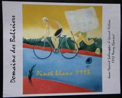ETIQUETTE CYCLISME DOMAINE DES BALISIERS PINOT BLANC 1993 PENEY GENEVE - Cycling