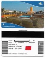 Costa Cruceros, Used Magnetic Cruise Cabin Key Card,  Kc-102 - Hotel Keycards
