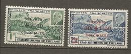 OCEANIE -  Yv. N°  169/170    *   Oeuvres Coloniales   Cote  3 Euro  BE 2 Scans - Océanie (Établissement De L') (1892-1958)