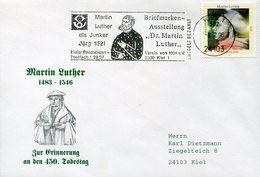 38984 Germany , Special Postmark 1996 Kiel,  Martin Luther - Christianity
