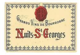 ETIQUETTE VIN GRANDS VINS DE BOURGOGNE NUITS-ST-GEORGES - Bourgogne
