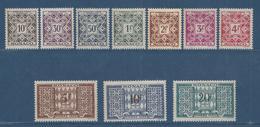 Monaco Taxe - YT N° 29 à 38 - Neuf Sans Charnière - 1946 à 1957 - Strafport