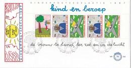 Nederland - FDC - Kinderzegels - Kind En Beroep - De Vrouw Te Land, Ter Zee En In De Lucht - NVPH E250a - Kindertijd & Jeugd