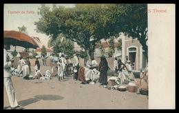 SÃO TOMÉ E PRÍNCIPE - FEIRAS E MERCADOS - Trechos Da Feira ( Ed. Salvador Levy & Cª)  Carte Postale - Sao Tome Et Principe
