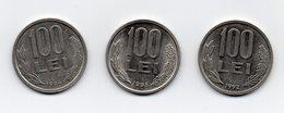 ROMANIA - 3 Monete Da 100 Lei - 1992 -1993 E 1994 - Vedi Foto - (MW1562) - Romania