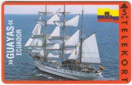 DANMARK A-444 Magnetic Ktas - Traffic, Sailing Ship, Guayas (Ecuador) - MINT (?) - Denmark